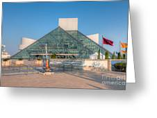 Rock And Roll Hall Of Fame I Greeting Card by Clarence Holmes