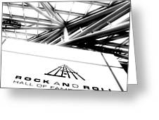 Rock And Roll Hall Of Fame Greeting Card by Kenneth Krolikowski