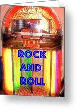 Rock And Roll Jukebox Greeting Card