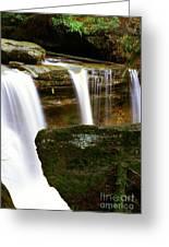 Rock And Waterfall Greeting Card