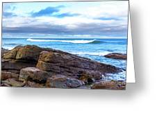 Rock And Wave Greeting Card