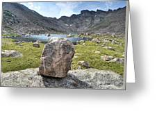 Rock At Abyss Lake Greeting Card