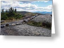Rock Boundaries On Casecade Mountain Keene Ny New York Greeting Card