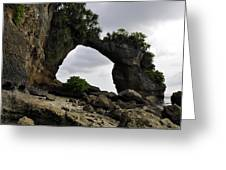 Rock Bridge At Neil Island Greeting Card