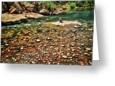 Rock Cairn At Buddha Beach - Sedona Greeting Card