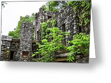 Rock Castle Fireplace Greeting Card