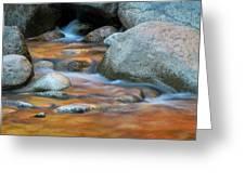 Rock Cave Reflection Nh Greeting Card