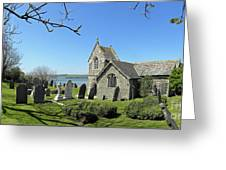 Rock Church Cornwall Greeting Card