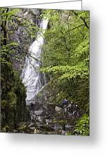 Rock Climbers At Graymare's Tail Falls Greeting Card