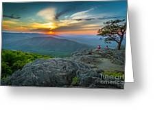 Rock Climbing At Ravens Roost Greeting Card