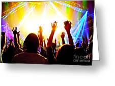 Rock Concert Greeting Card
