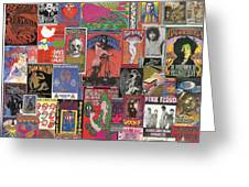 Rock Concert Posters Collage 1 Greeting Card