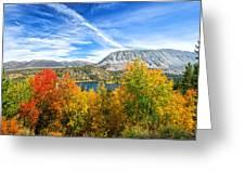 Rock Creek Lake Fall Panorama Greeting Card