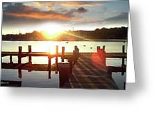 Rock Creek Morning Greeting Card