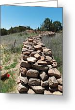 Rock Fence Greeting Card