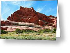 Rock Formation Of La Sal Mountains Greeting Card