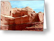 Rock Formation Of Red Sandstone Arches National Park Greeting Card