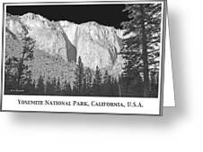 Rock Formation Yosemite National Park California Greeting Card