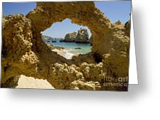 Rock Formations, Albufeira Greeting Card