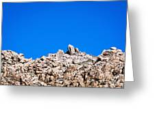 Rock Formations And Blue Sky Greeting Card