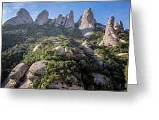 Rock Formations Montserrat Spain Greeting Card