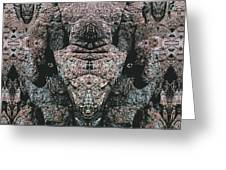 Rock Gods Elephant Stonemen Of Ogunquit Greeting Card