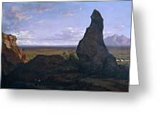 Rock In Montserrat Greeting Card