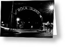 Rock Island Entrance Greeting Card