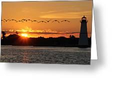 Rock Island Lighthouse Greeting Card