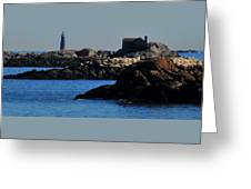 Rock Islands And Minots Light Greeting Card