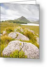Rock Landscape Off Lake Plimsoll Near Queenstown Greeting Card