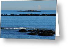 Rock Ledges And Calm Seas Greeting Card
