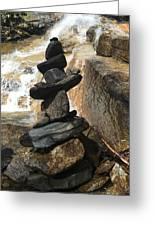 Rock Monument At Jones Gap Falls II Greeting Card