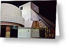 Rock Music Hall Of Fame Greeting Card