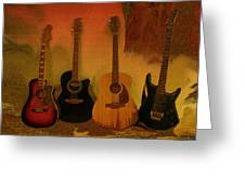 Rock N Roll Guitars Greeting Card
