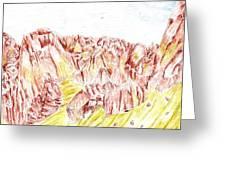 Rock Outcrop Greeting Card
