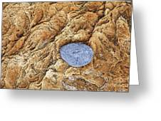 Rock Pattern With Pebble Greeting Card