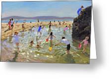Rock Pool, Tenby Greeting Card
