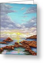 Rock Pools, Seascape Greeting Card