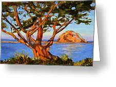Rock Reflection - Morro Bay Greeting Card