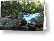 Rock Stack Falls Greeting Card
