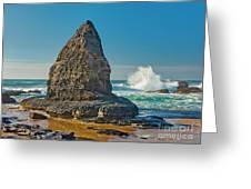 Rock Stack On The Costa Viicentina, Portugal Greeting Card