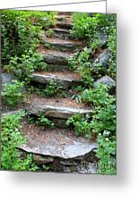 Rock Stairs Greeting Card