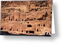 Rock Village In Petra Greeting Card