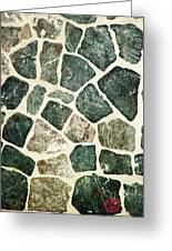 Rock Wall 01 Greeting Card