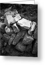 Rock Wall Doolin Ireland Greeting Card