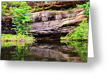 Rock Wall Reflections Greeting Card