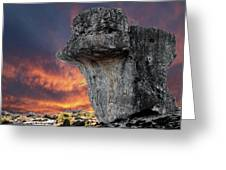 Rock Wallpaper Greeting Card