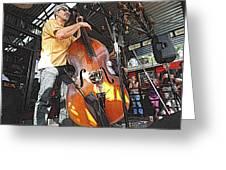 Rockabilly Bass Greeting Card