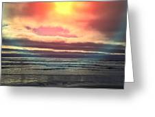 Rockaway Beach Colors Greeting Card